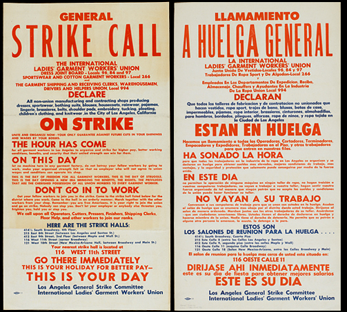 ILGW General Strike Call Broadside