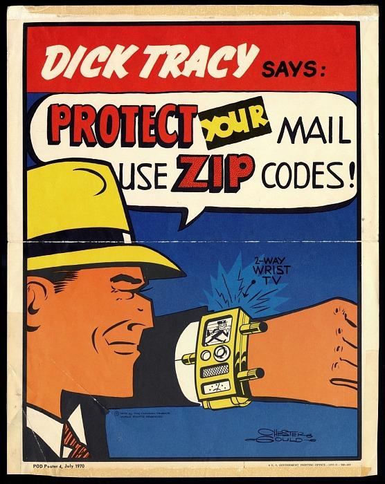 Campañas publicitarias imaginativas: Dick Tracy, Mr. ZIP y el código postal