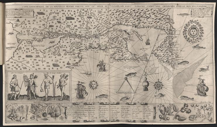 Carte Geographique de La Novvelle Franse, by Samuel de Champlain, 1612