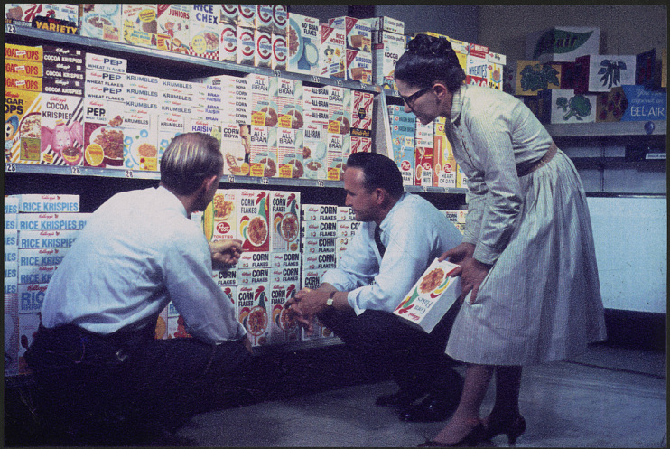 Packaging designers, around 1960