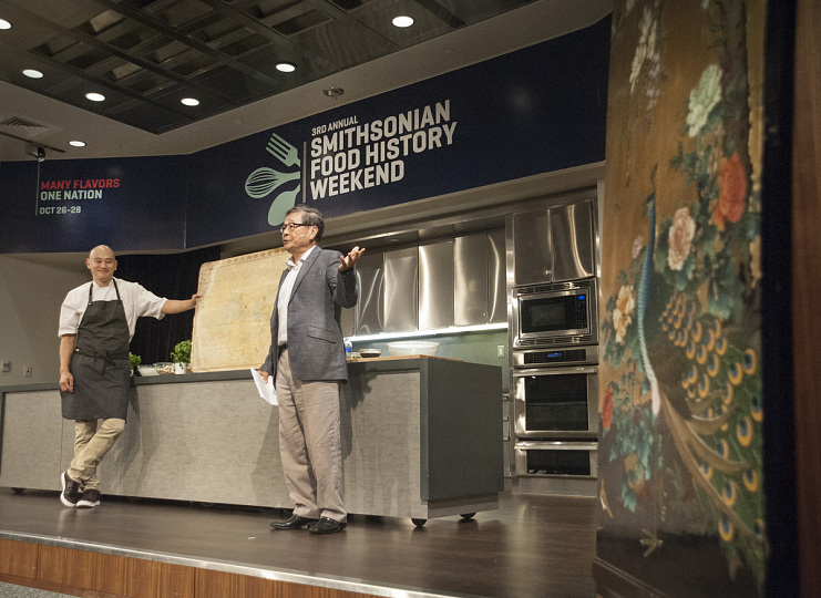 Paul Ma and Tim Ma at the Smithsonian's third annual Food History Weekend, 2017