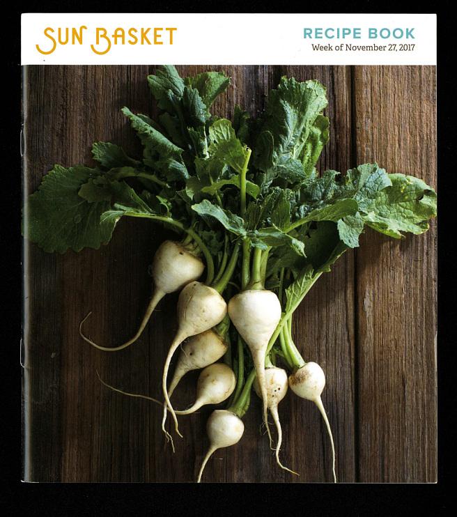 Sun Basket recipe book, Week of November 27, 2017