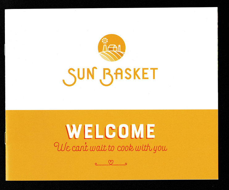 Sun Basket welcome packet