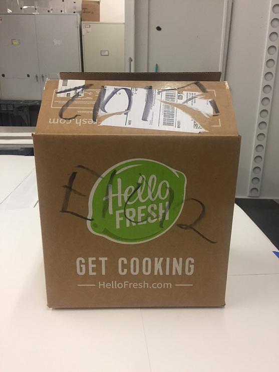 Hello Fresh shipping box
