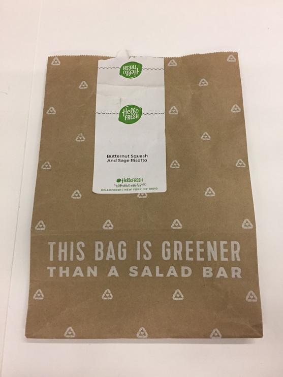 Hello Fresh paper bag