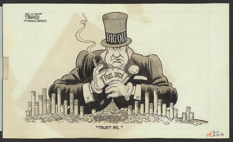 "Editorial cartoon, ""Trust Me,"" Doug Marlette, 1973–1974"