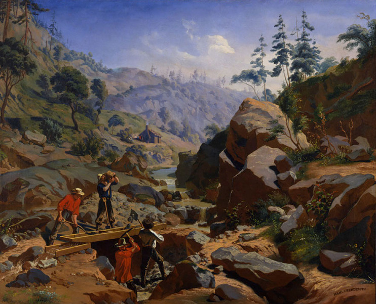 Charles Nahl and Frederick A. Wenderoth, Miners in the Sierras, 1851–1852