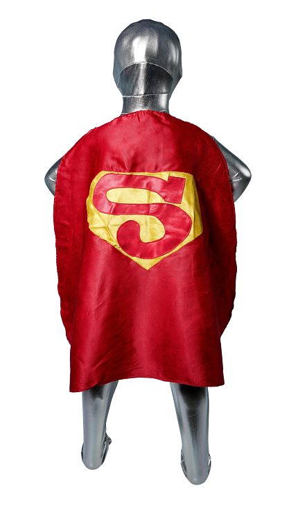 Superman cape, early 1980s, worn by Matt Shepard as a child