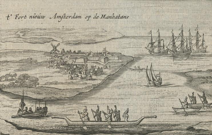 """""""T'Fort Nieuw Amsterdam op de Manhatans,"""" 1651"""