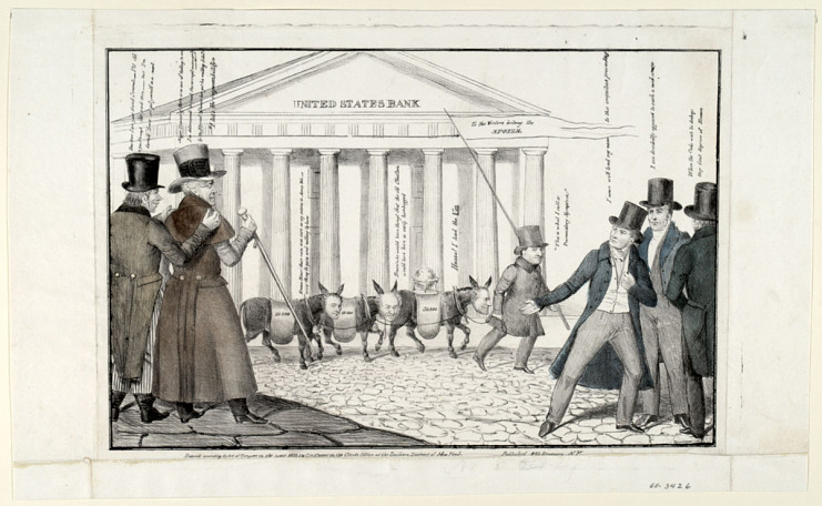 Political Money Changers (in front of the National Bank), 1833
