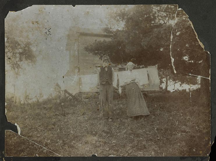 Lucy Ann McWorter Vond, daughter of Free Frank, and her husband, near New Philadelphia, Illinois, 1800s