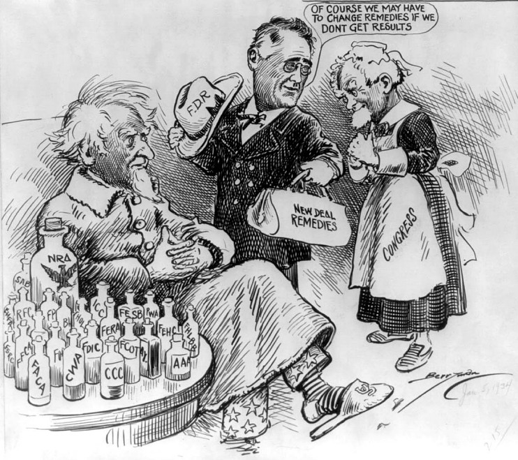 Political cartoon, 1934