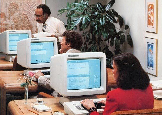 Xerox Star in use, around 1981