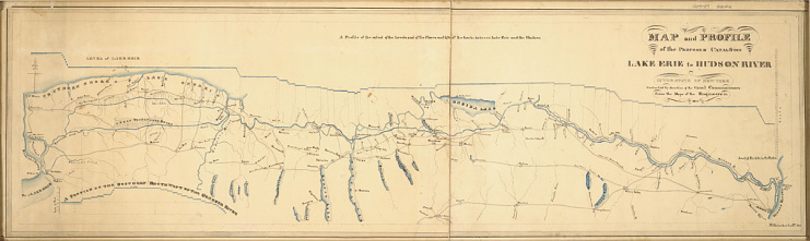 Erie Canal map, around 1817