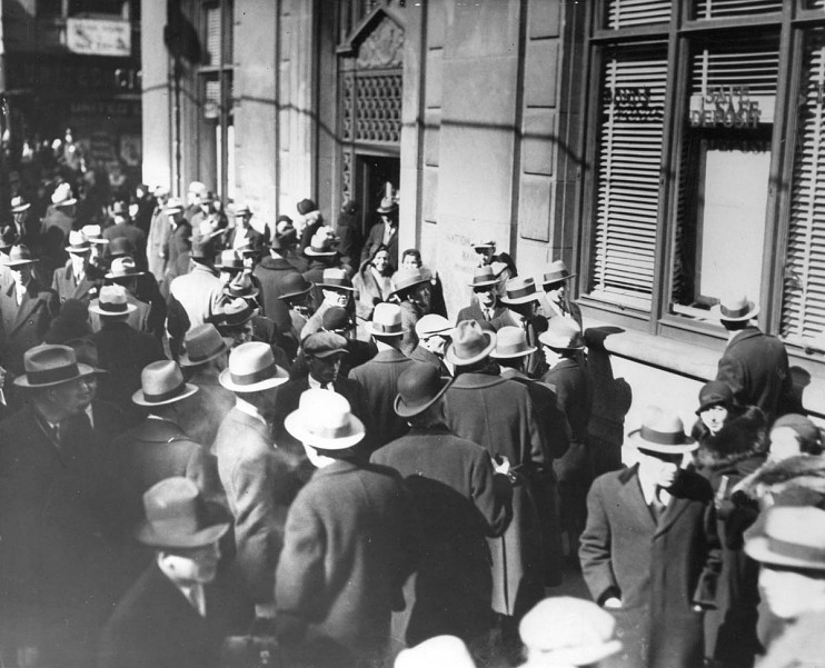Bank run, about 1933