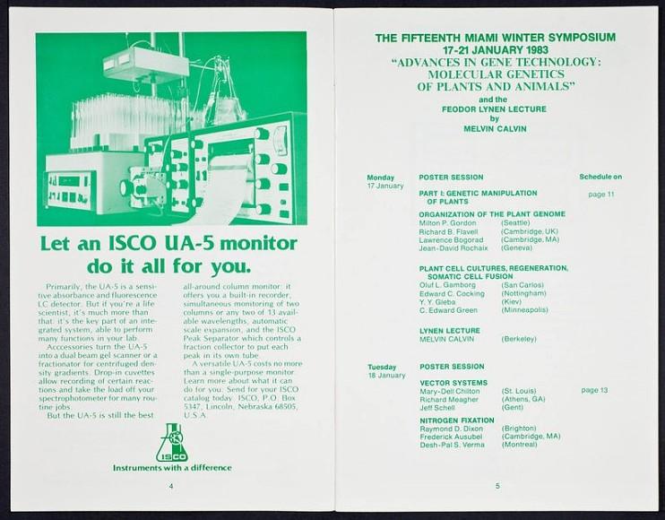 Symposium program, 1983