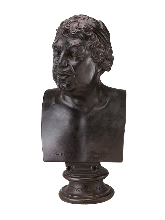 Plaster bust by L. Gahagan, 1809