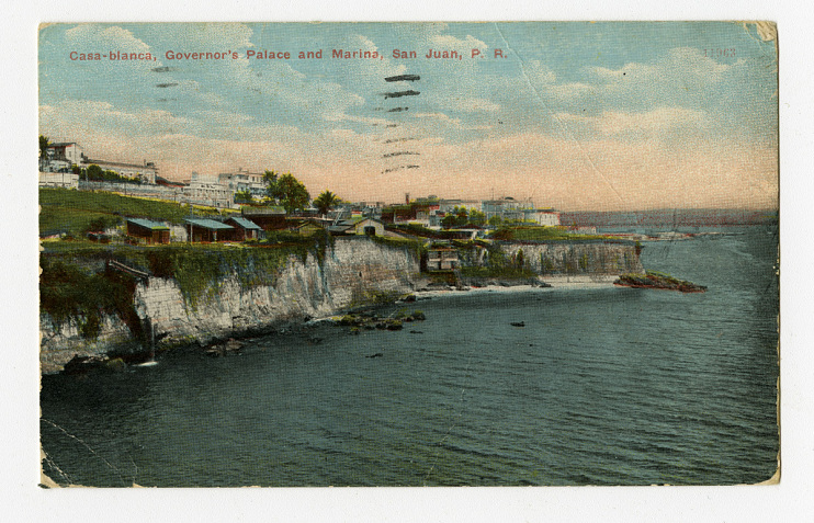 Governor's palace and marina, San Juan, Puerto Rico, early 1900s