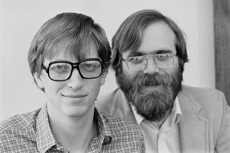 Bill Gates and Paul Allen, 1955– and 1953–2018