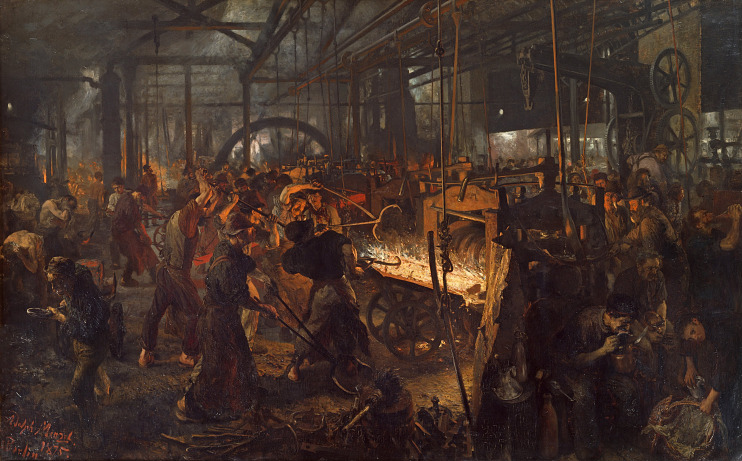 Adolf Menzel, The Iron Rolling Mill 1870