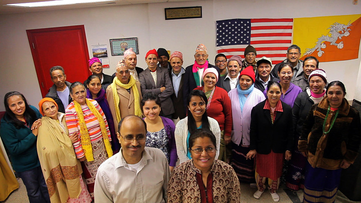 New immigrants gather at community center, Clarkston, Georgia, 2012