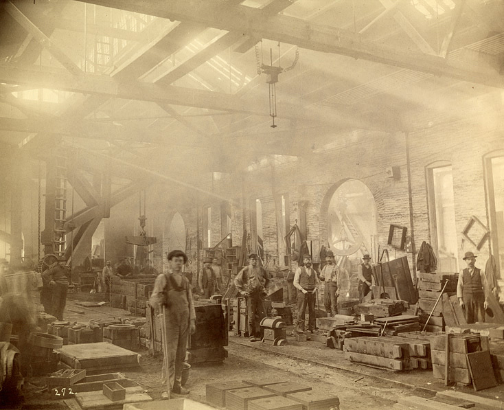 Workers in Frick Company Foundry, about 1890