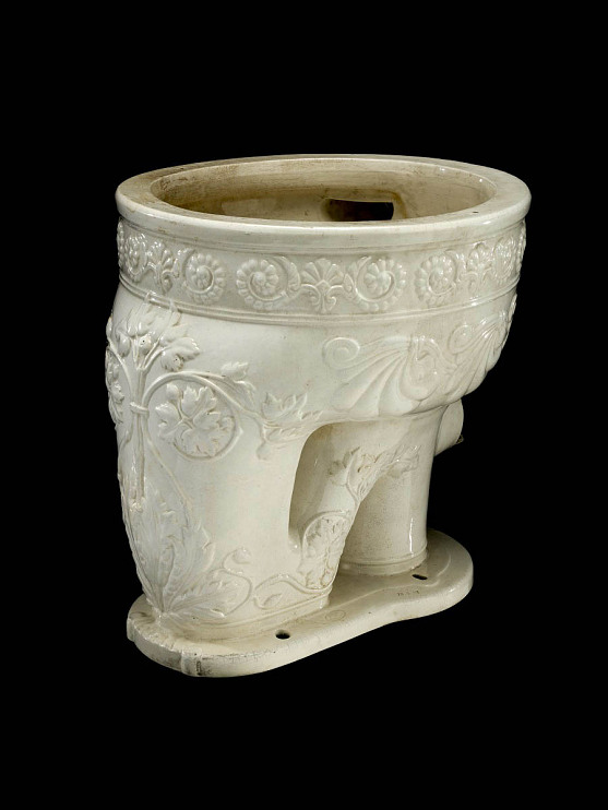 Toilet bowl, about 1900