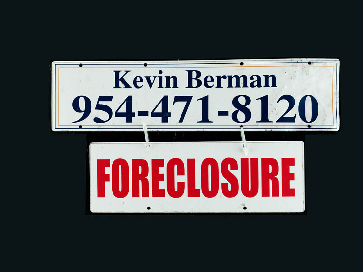 Foreclosure sign, Fort Lauderdale, Florida, about 2010