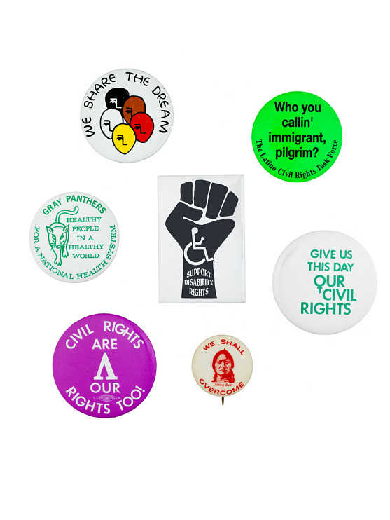 Equal rights buttons