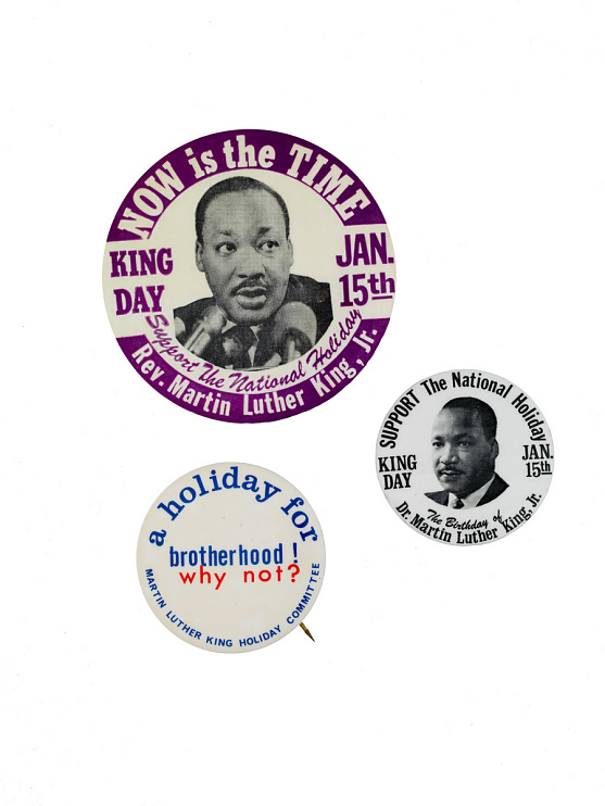 King holiday buttons