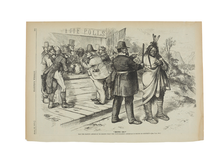 """""""Move On,"""" Harper's Weekly, April 22, 1871"""