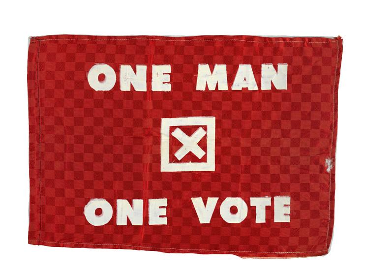 One Man One Vote flag