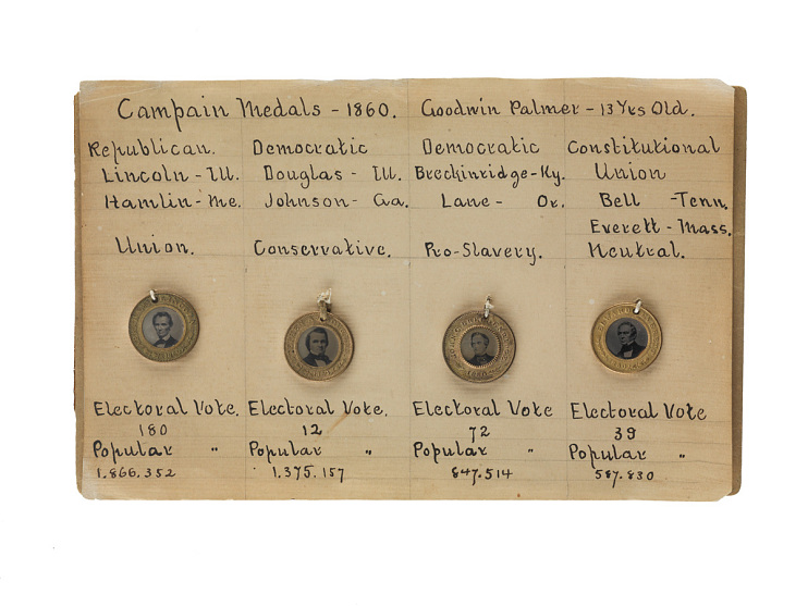 Ferrotype medalette collection, 1860