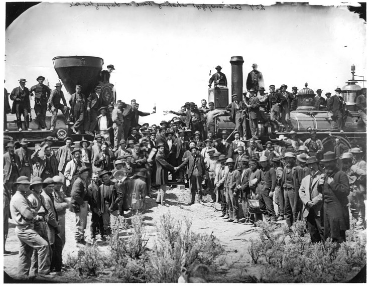 Ceremony to drive the last spike, May 10, 1869