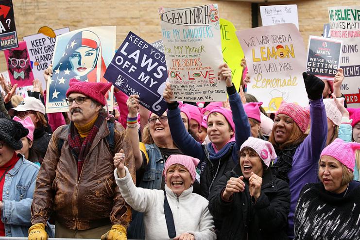 Women's march participants, January 21, 2017