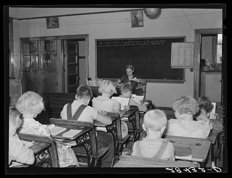 One-Room Schoolhouse, Grundy County, Iowa, 1939