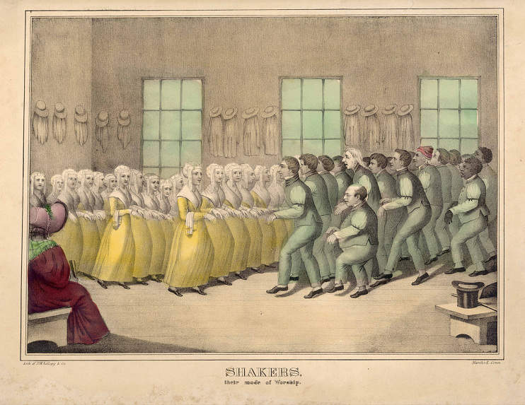 Shakers Dancing, around 1840