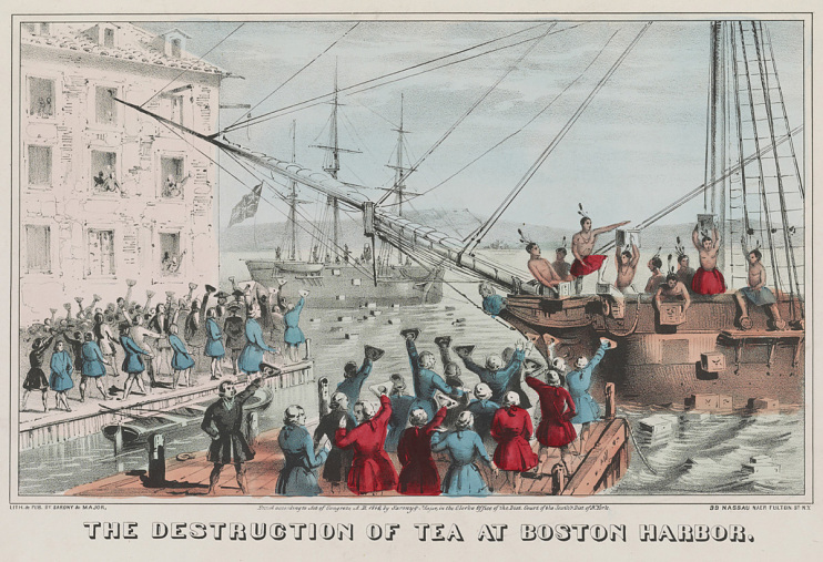 """The Destruction of Tea at Boston Harbor,"" New York, around 1846"