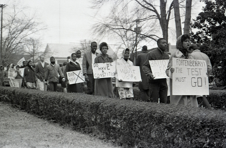 Voting rights demonstration in McComb, Mississippi, 1962