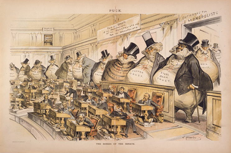 """The Bosses of the Senate,"" Puck, January 23, 1889"