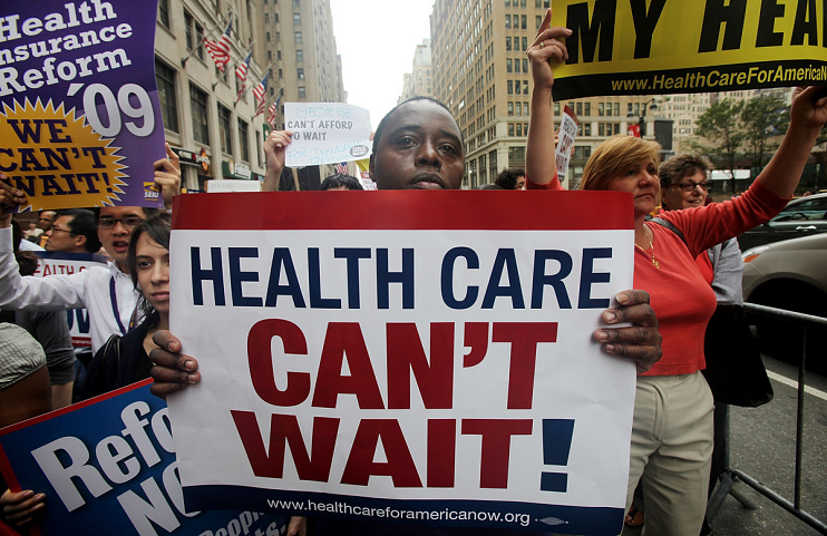 Rally for health care reform, New York City, September 22, 2009