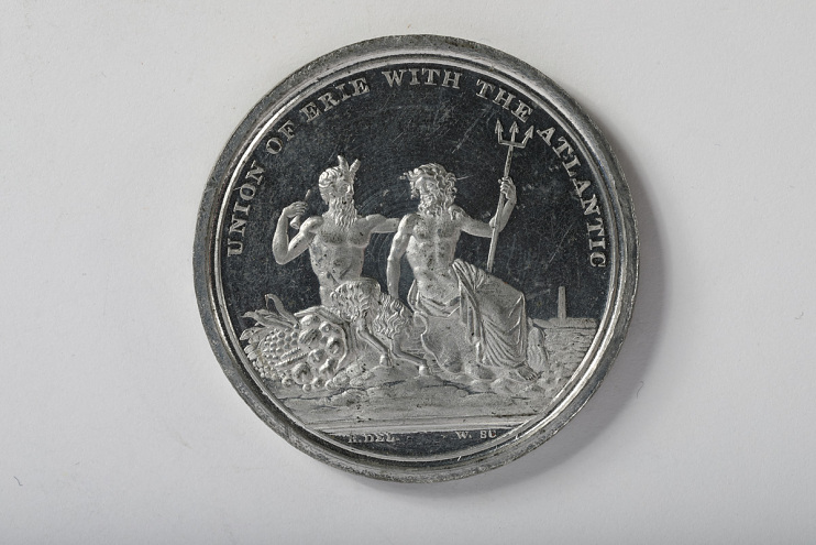 Erie Canal Opening Commemorative Medal (obverse), 1825