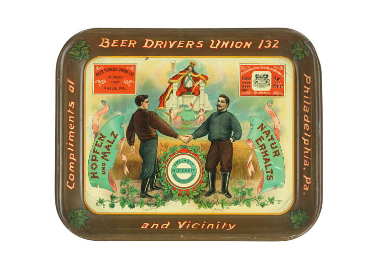 Beer tray, about 1905