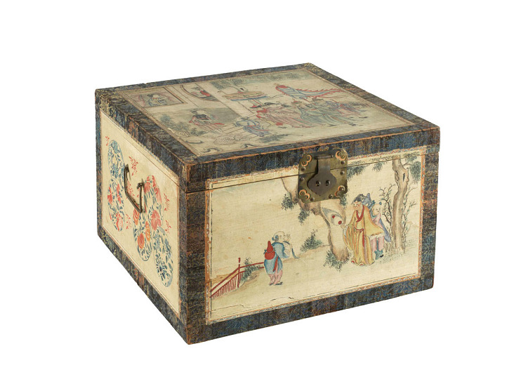 Tea chest, late 1700s