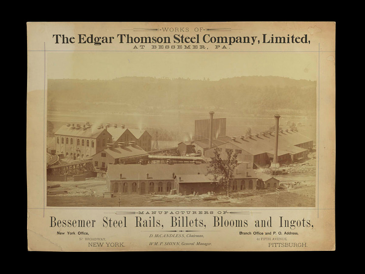 Edgar Thomson Steel Works, North Braddock, Pennsylvania, about 1875