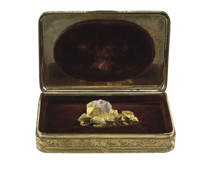 Gold nugget case, 1864