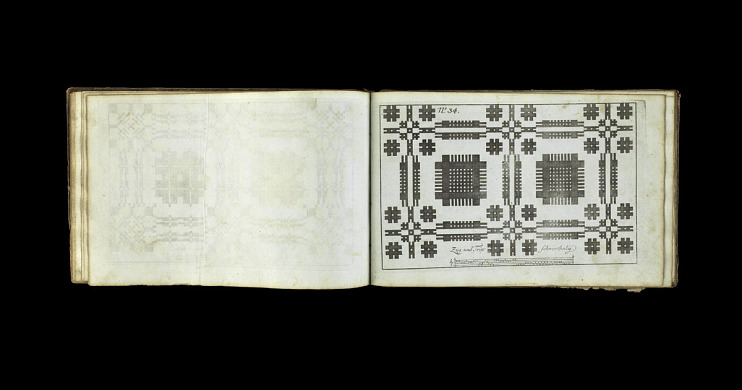Johann Kirschbaum's weaver's pattern book, used by Stauffer, 1771