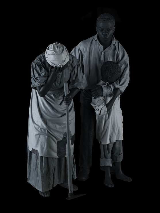 Sculpture of an enslaved family