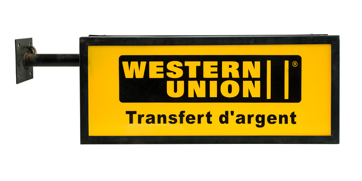 Western Union sign from Morocco, 1995–2002