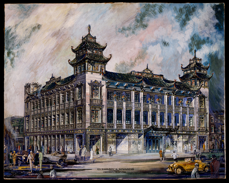 Architect's rendering of On Leong Merchants Association Building, 1926